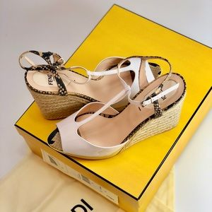 371e090341c77 FENDI Shoes - NIB FENDI ELODIE WHITE WEDGE HEELS